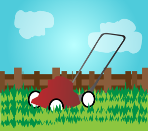 lawnmower during warmer months