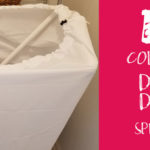 DIY Collapsible Spray Shield for Reusable Cloth Diapers & Dog Waste Bags