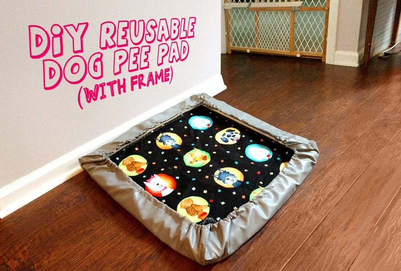 Diy Reusable Pee Pads Holder For Dogs